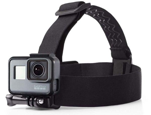 AmazonBasics - Montura con correas para cabeza para cámara GoPro