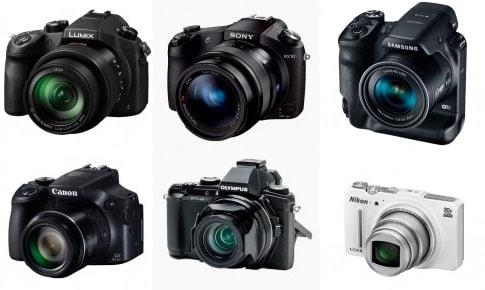 Panasonic Lumix DMC-FZ1000 Sony Cybershot RX10 Samsung WB2200F Canon Powershot SX60 HS Olympus Stylus 1 Nikon Coolpix S9700