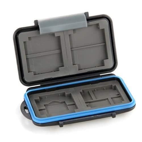 3 cajas protectoras y fundas para tarjetas de memoria