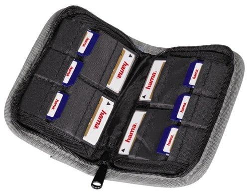 Hama - Multi Card Case Mini, CF-/SM-/SDC-/MMC-/xD-/Mstick (10 piezas)