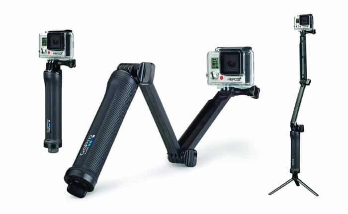3 en 1 para la cámara GoPro: empuñadura, brazo alargador y trípode