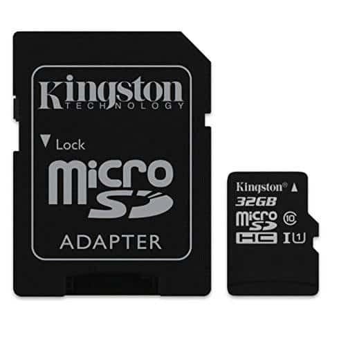 Kingston SDC10/32GB - Tarjeta microSD de 32 GB (clase 10, UHS-I, adaptador SD)