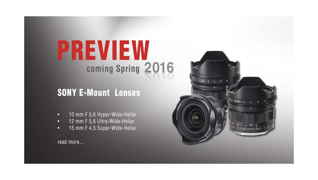 Voigtländer nos muestra sus nuevas lentes Sony-E-Mount