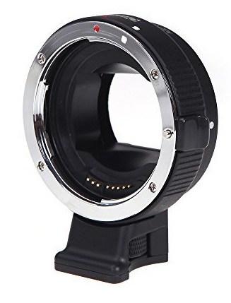 Andoer Auto Focus - Adaptador para objetivos de cámaras, color negro