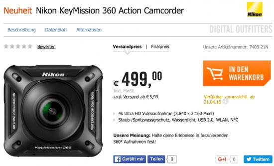 Nikon KeyMission 360: Precio y características