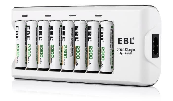 ¿Y qué pasa si necesitas un cargador para muchas pilas?EBL 808A