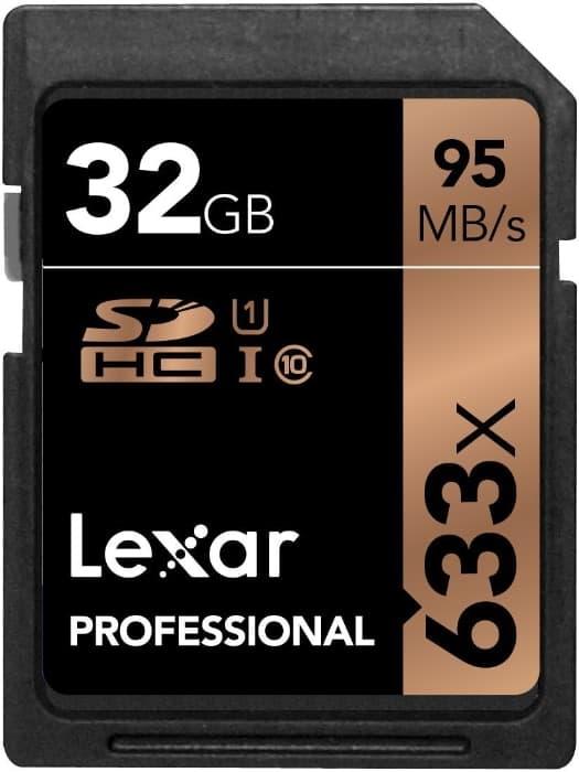 Lexar Professional - Tarjeta de Memoria 633x SDHC de 32 GB