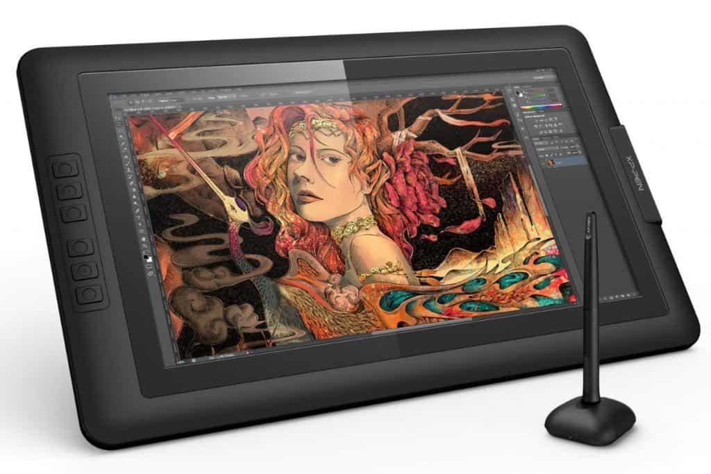 XP-Pen Artist15.6 IPS Gráficos Monitor de Dibujo Tableta con Guante y Lápiz Digital