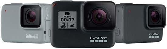 GoPro HERO7 Black, Silver y White