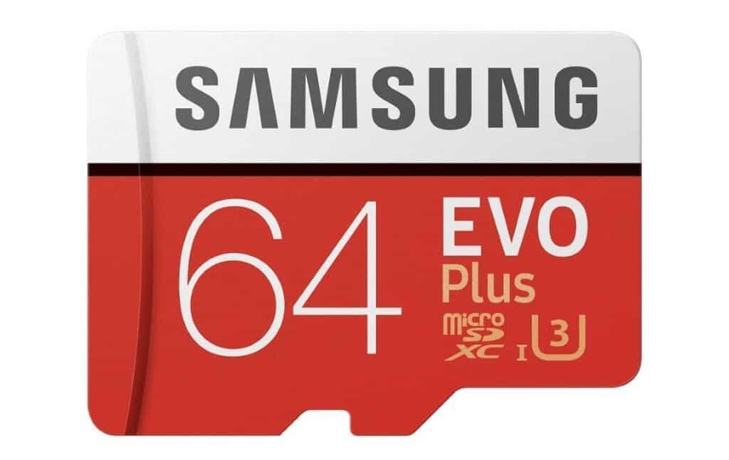 Samsung EVO Plus - Tarjeta de Memoria microSD de 64 GB con Adaptador SD, 100 MB/s, U3