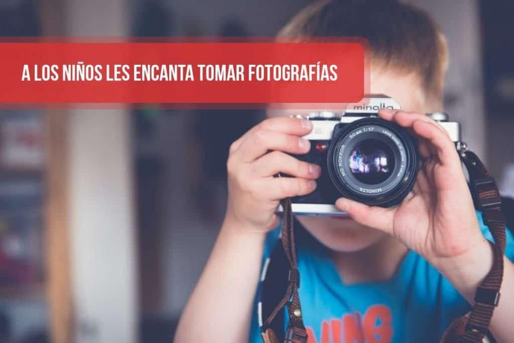 A los niños les encanta tomar fotografías