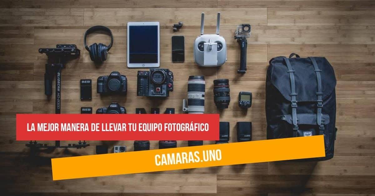 ¿Cuál es la mejor manera de llevar tu equipo fotográfico? Selección de mochilas, bolsos bandolera y correas para cámaras, objetivos y accesorios