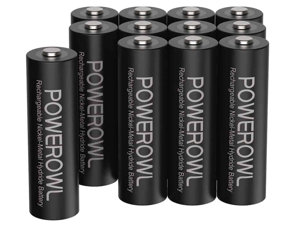 Pilas recargables POWEROWL de alta capacidad 2800mAh