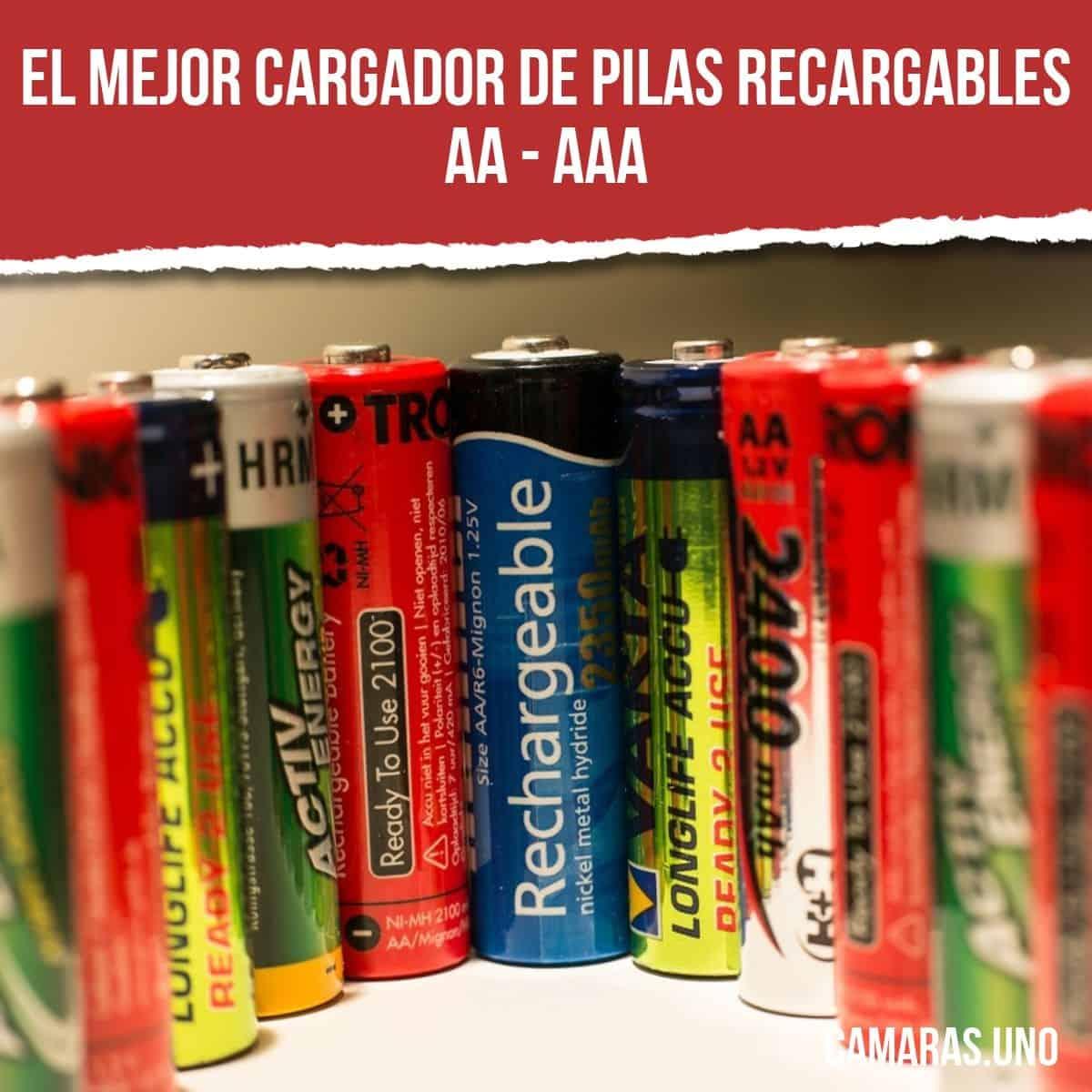El mejor cargador de pilas recargables AA - AAA