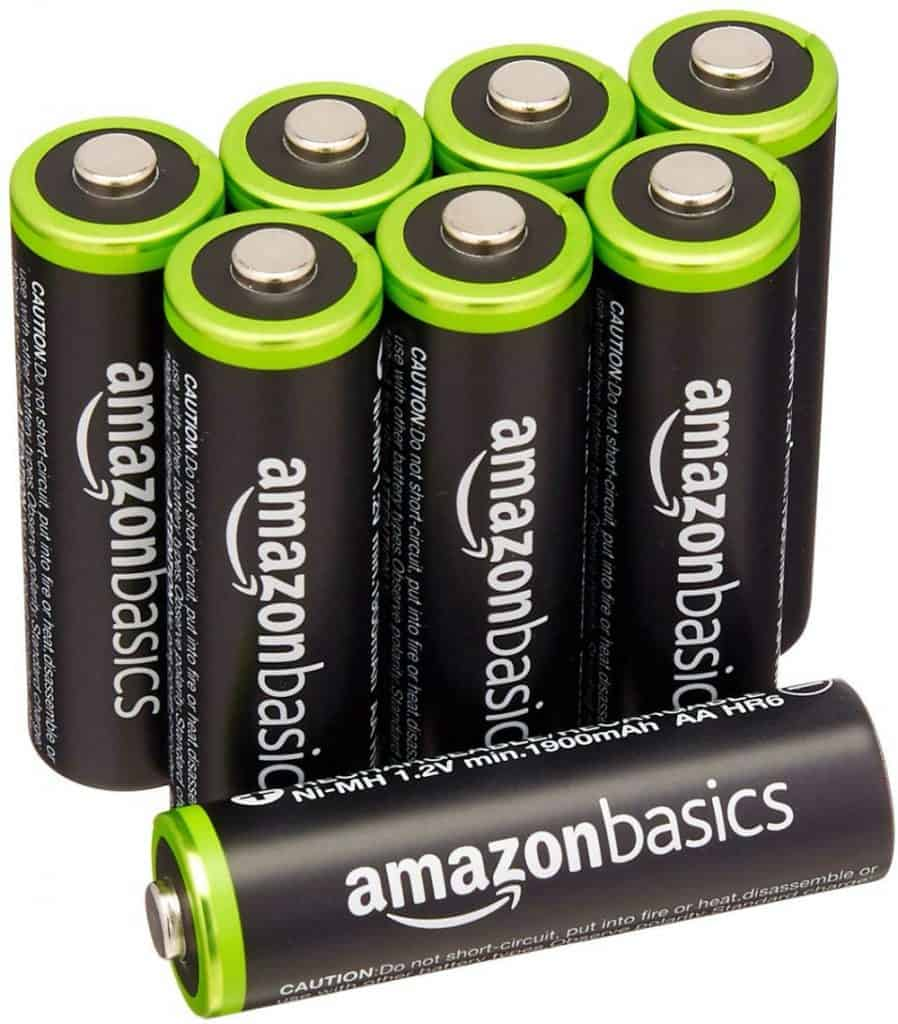 AmazonBasics - 8 pilas recargables AA Ni-MH