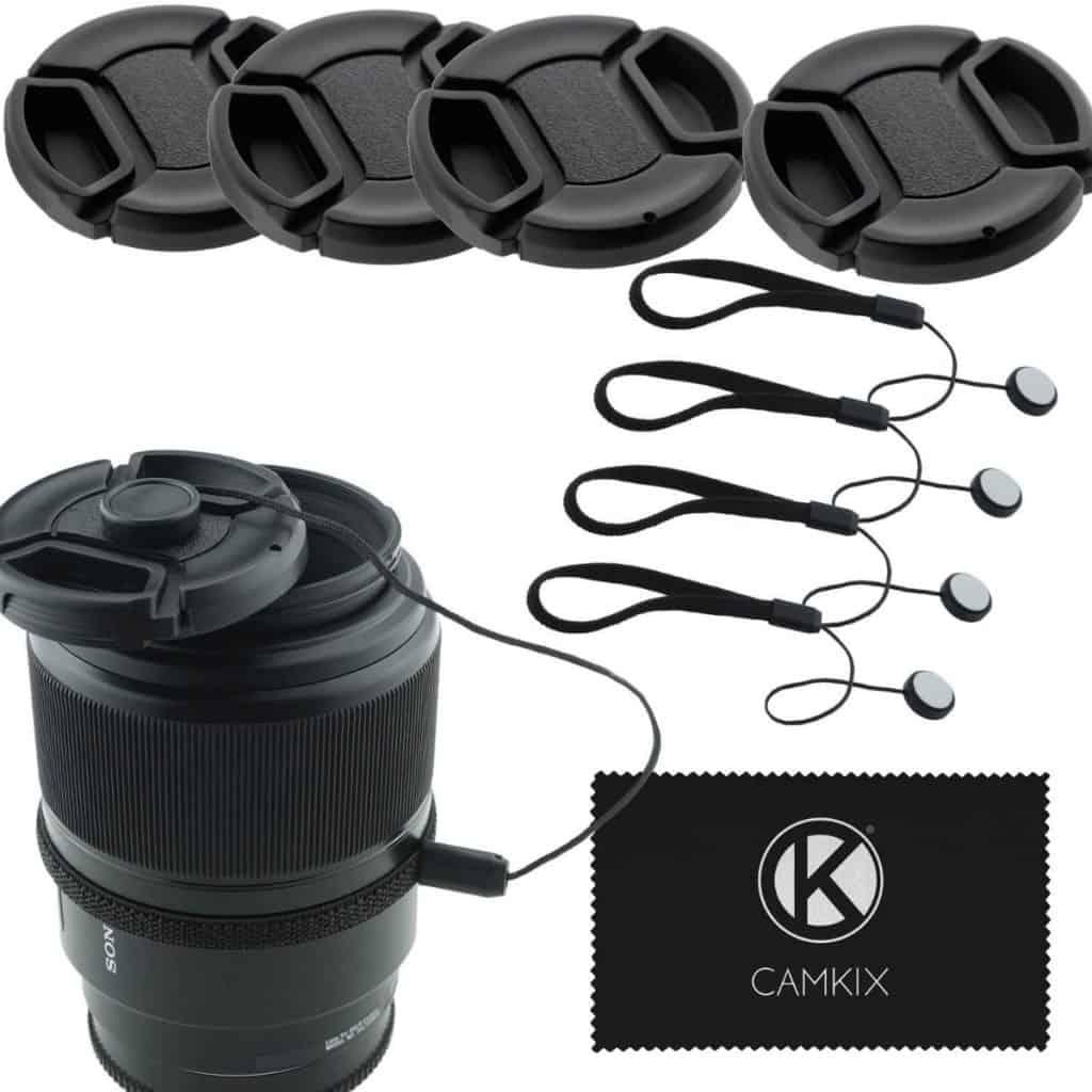 Tapas objetivo de CamKix para Nikon, Canon, Sony y otras DSLR