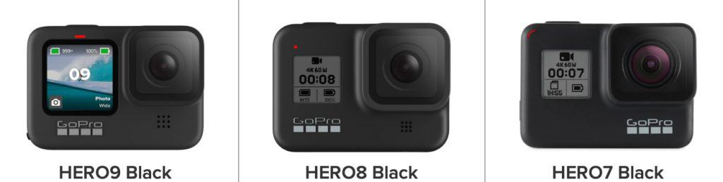 Comparativa de características: GoPro HERO9 Black vs GoPro HERO8 Black vs GoPro HERO7 Black