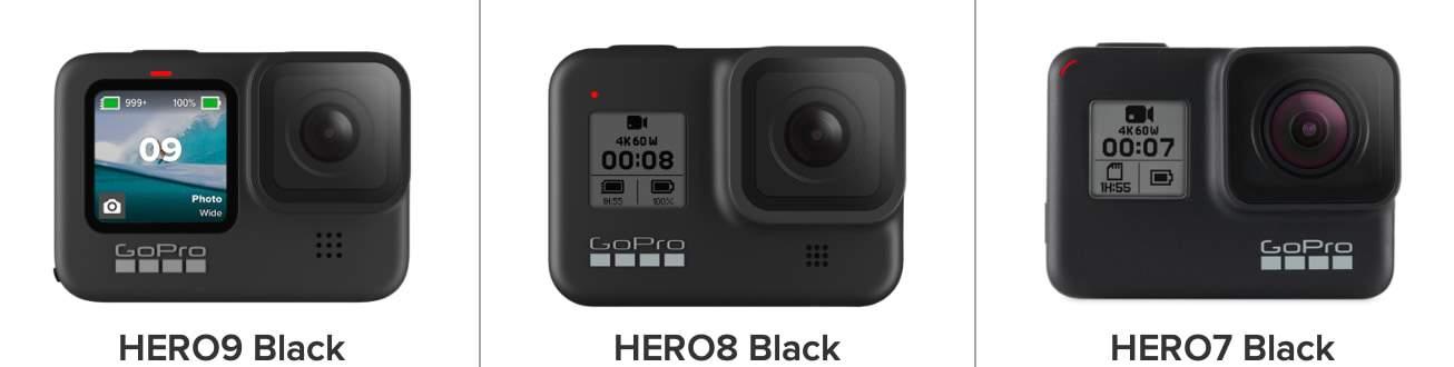Comparativa de características: GoPro HERO9 Black vs GoPro HERO8 Black vs GoPro HERO7 Black