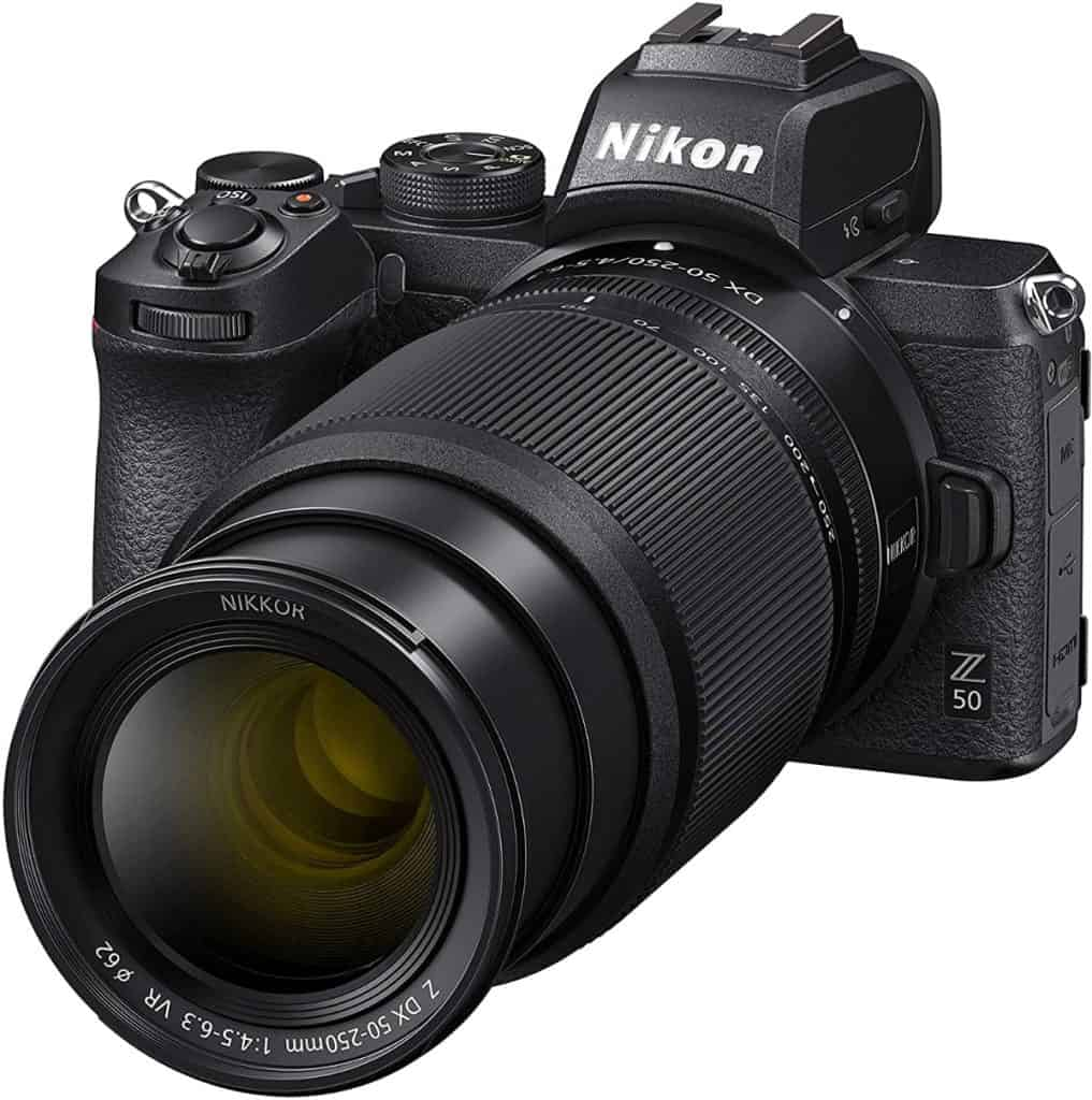 Nikon Z50 - Cámara sin Espejo de 21 MP, Negro - Kit Cuerpo con Objetivo 16-50 DX VR y 50-250 DX VR