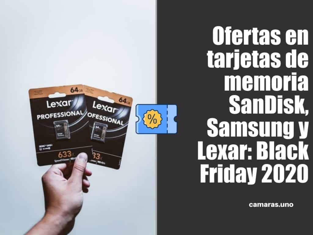 Ofertas en tarjetas de memoria SD y microSD de SanDisk, Samsung y Lexar por el Black Friday 2020 en Amazon España
