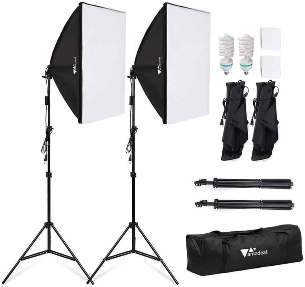 Kit de iluminación para fotografía de Amzdeal