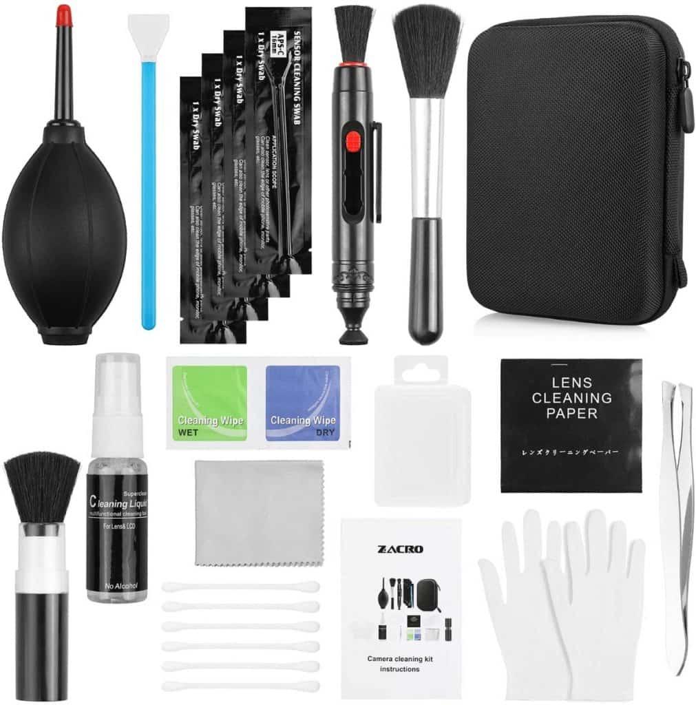 Kit de limpieza para cámaras réflex digitales de Zacro