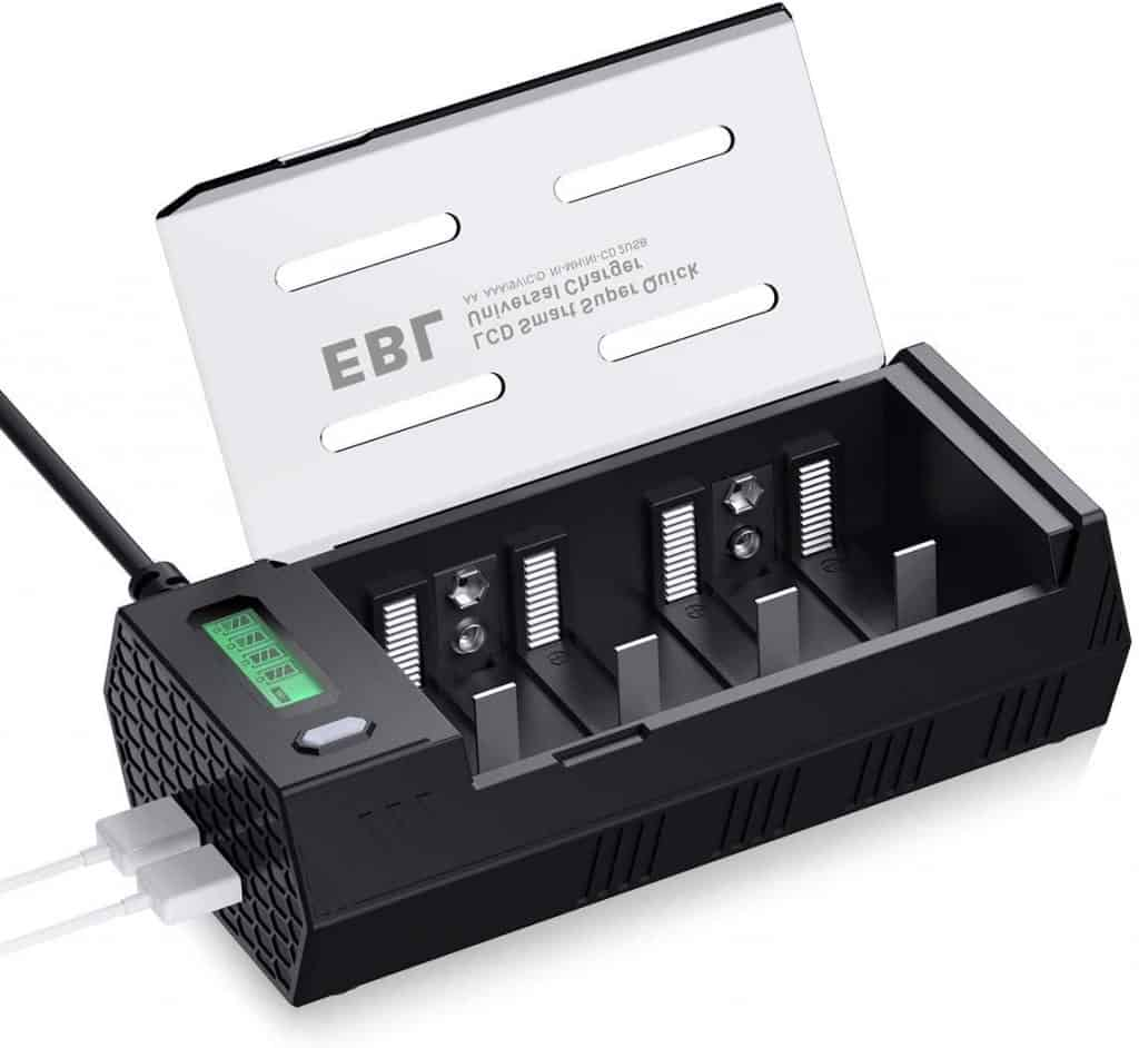 EBL 908 Cargador de Pilas para AA AAA C D 9V Ni-MH Ni-CD