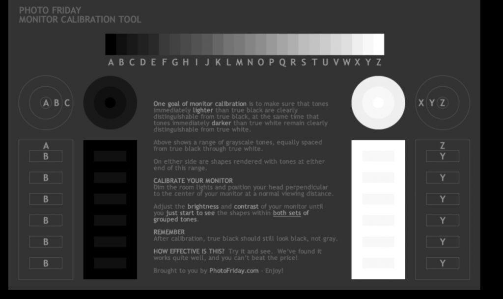 Herramientas de calibración en línea: Photo Friday