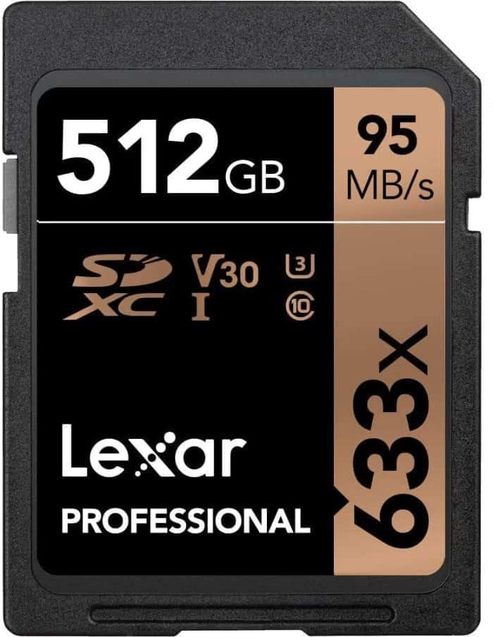 Lexar Professional 633x - Tarjeta de memoria de 512 GB (SDXC, UHS-I)