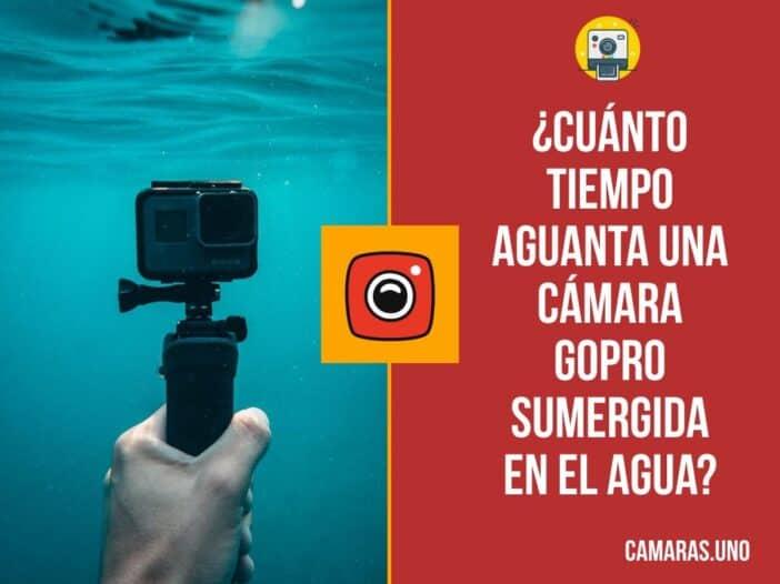 ¿Cuánto tiempo aguanta una cámara GoPro sumergida en el agua?